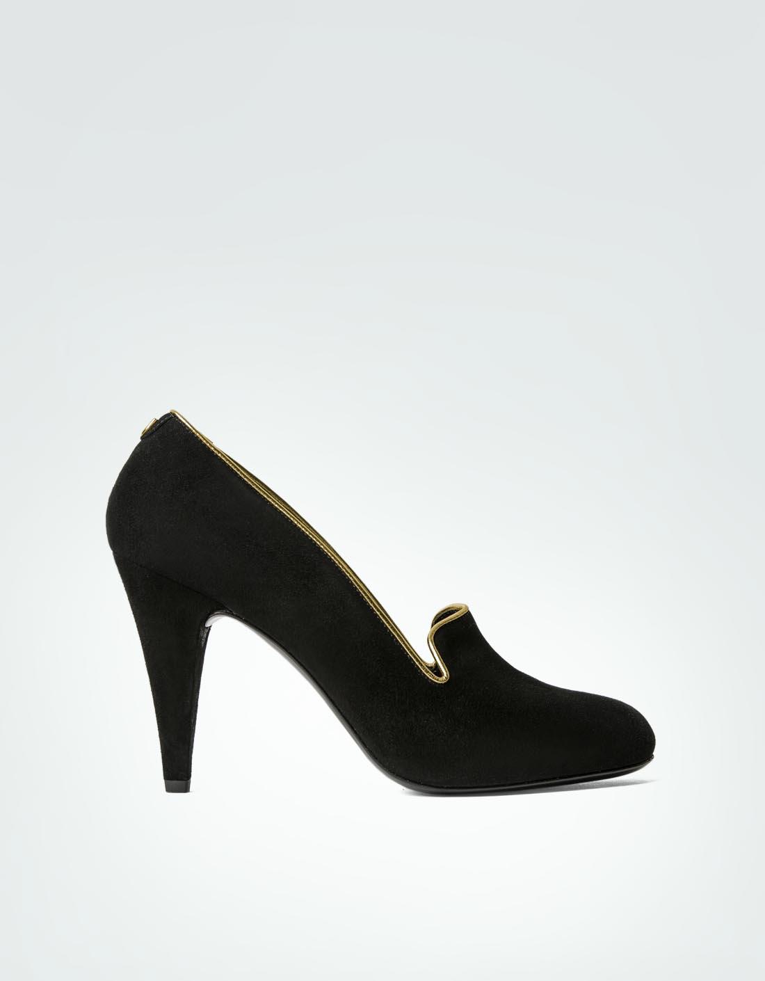JOOP Damen Schuhe Pumps aus Veloursleder schwarz a4xV2TULH