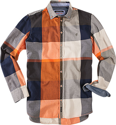 Marc O'Polo Hemd orange-grau 329/1710/42344/293