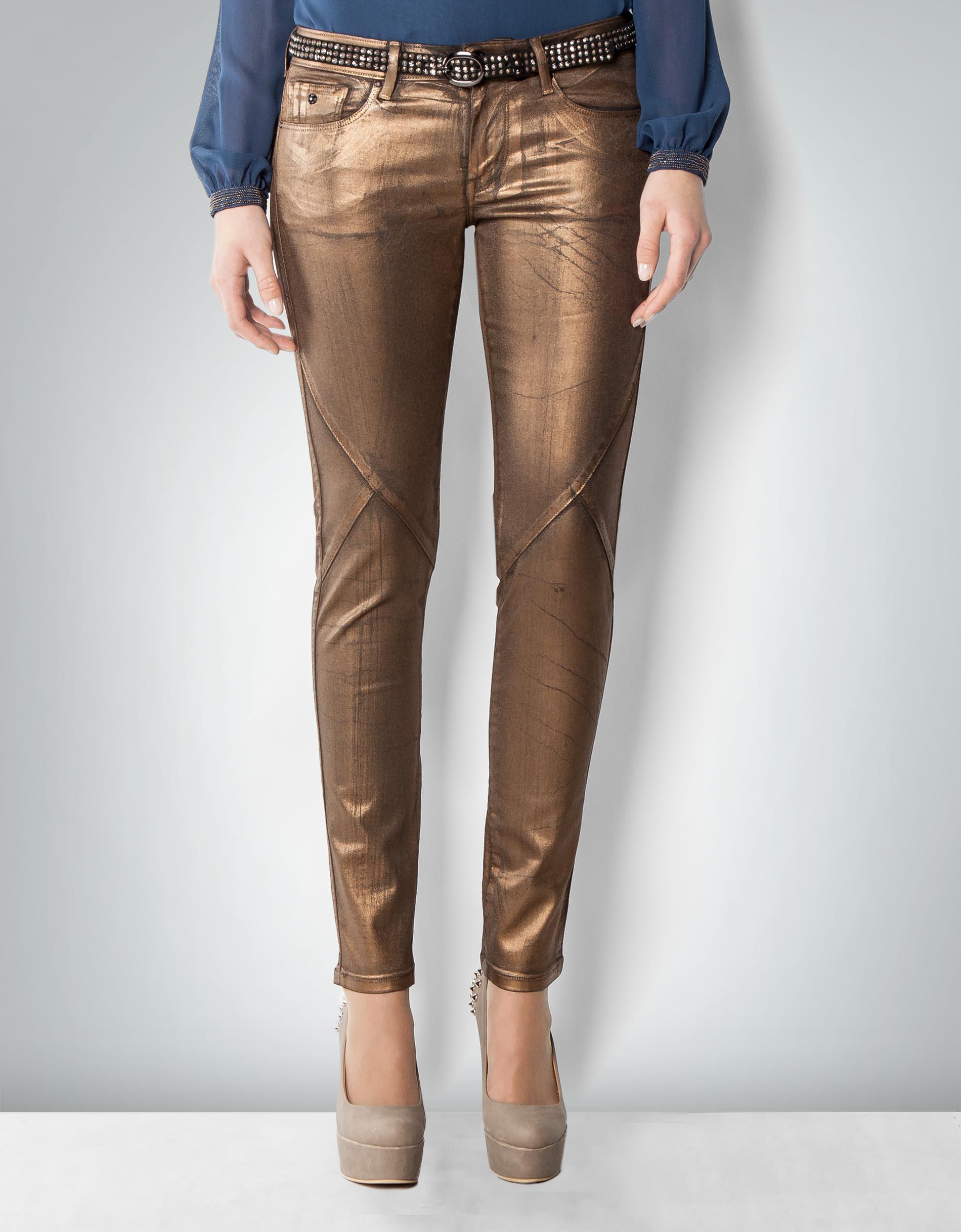 pepe jeans damen truffle jeans im metallic look empfohlen von deinen schwestern. Black Bedroom Furniture Sets. Home Design Ideas
