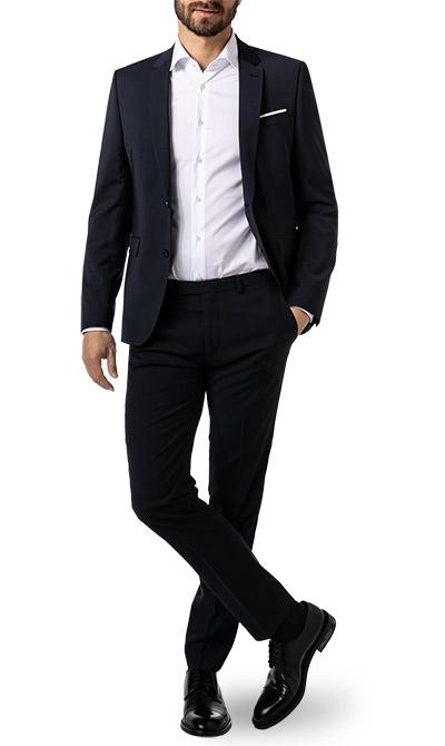 digel anzug extra slim fit in blau. Black Bedroom Furniture Sets. Home Design Ideas