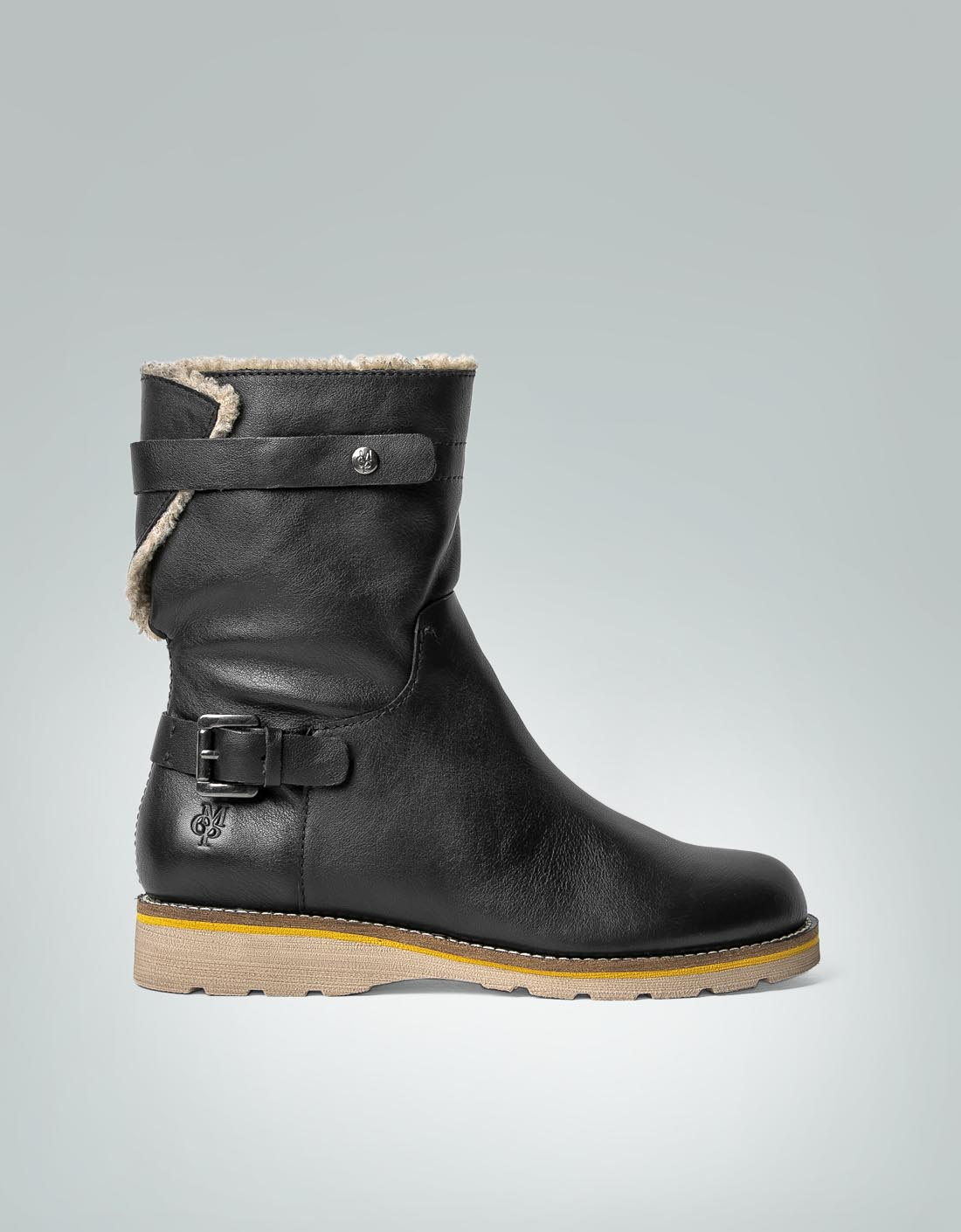 Marc O'Polo Damen Flat Heel Boot Stiefelette mit