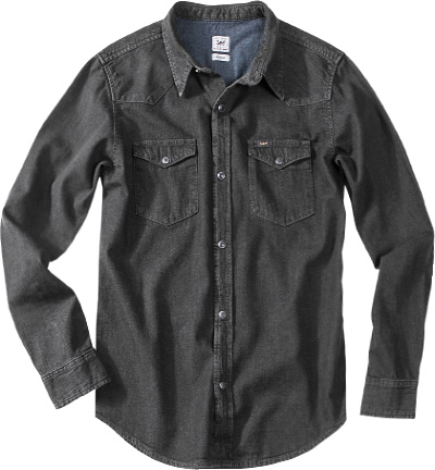 Lee Jeanshemd Slim Western pitch black L643/KBGL