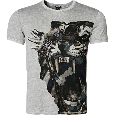 Just cavalli V-Shirt grau F4500/7463