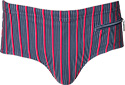Jockey Badeslip Retro Brief marine-rot 67217/499