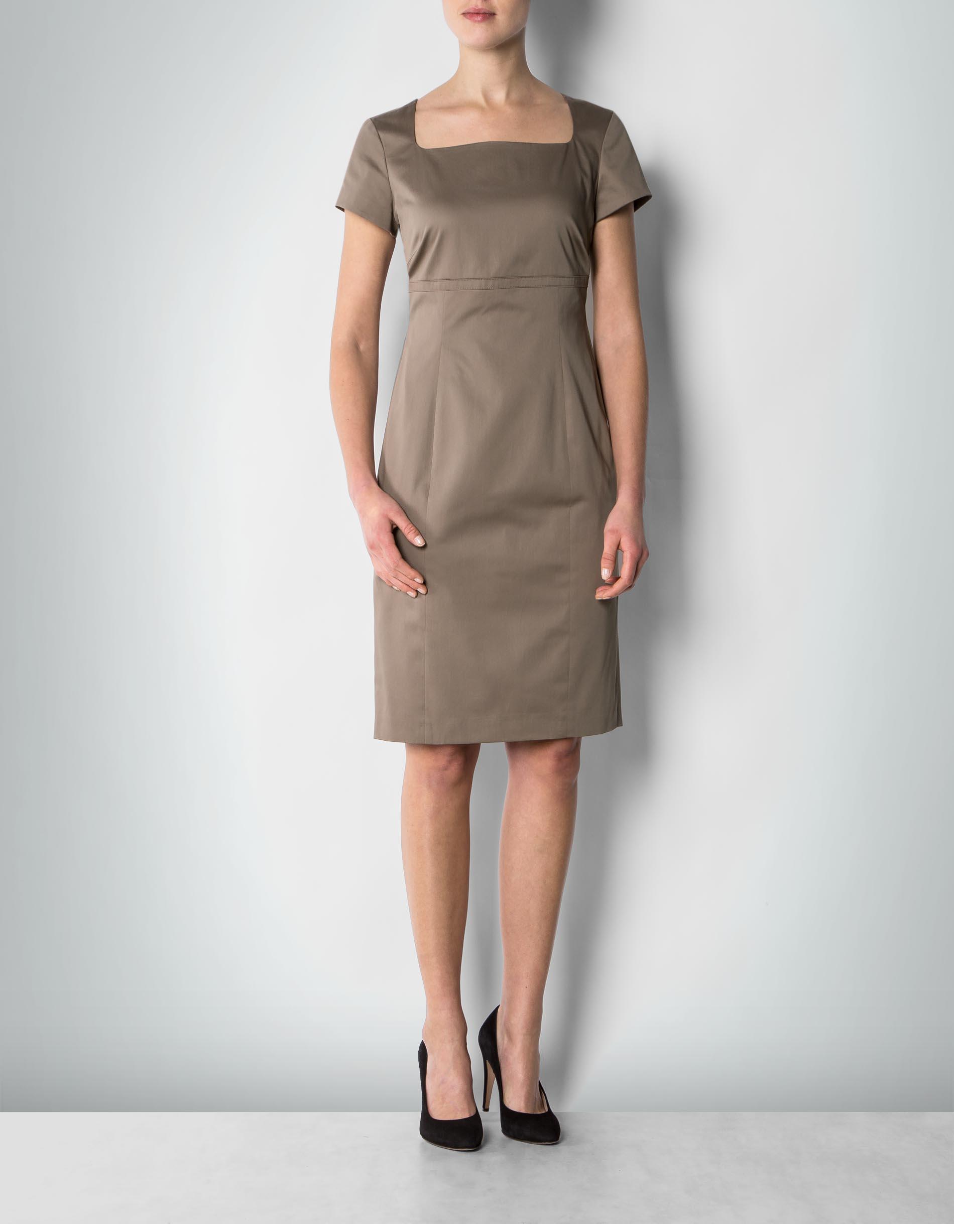 daniel hechter damen kleid khaki etui im femininen stil. Black Bedroom Furniture Sets. Home Design Ideas