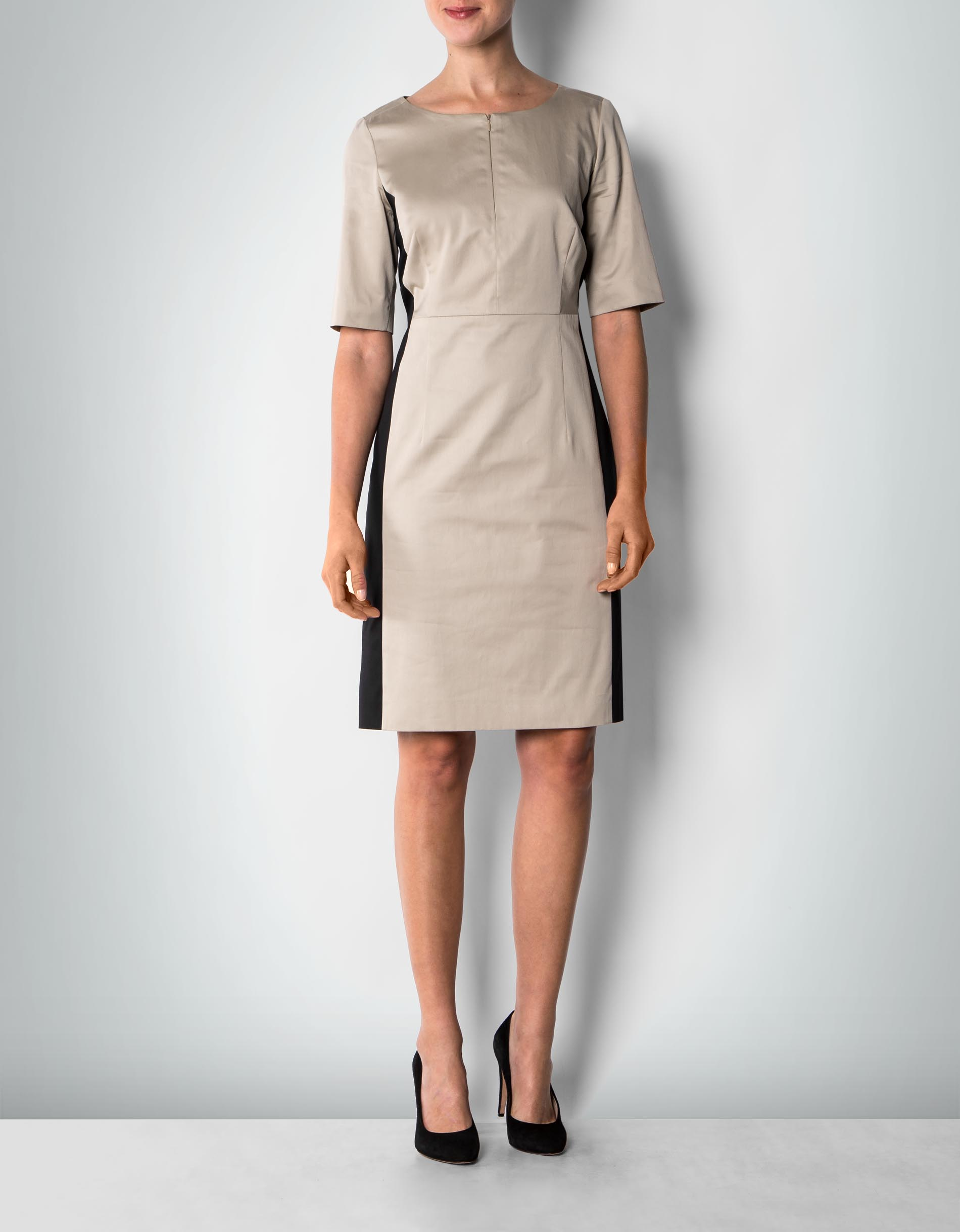 daniel hechter damen kleid beige etui im two tone look. Black Bedroom Furniture Sets. Home Design Ideas