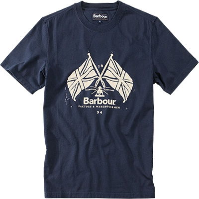 Barbour T-Shirt Cross Flags MTS0029NY91