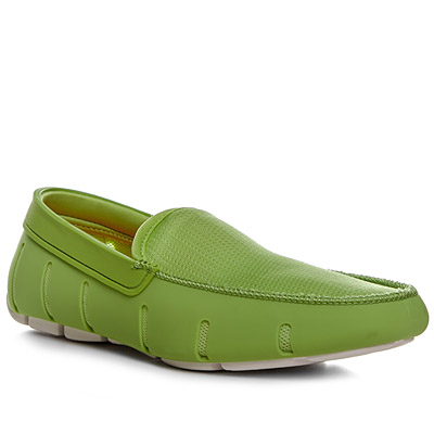 SWIMS Flat Loafer green-white