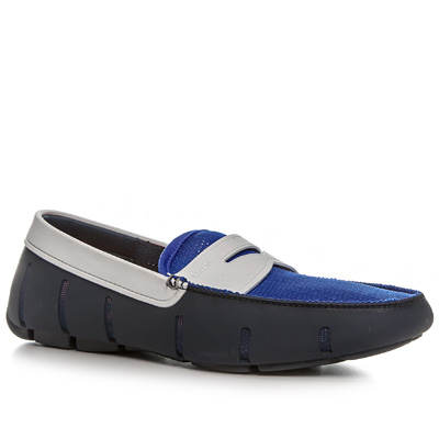 SWIMS Penny Loafer blue-white