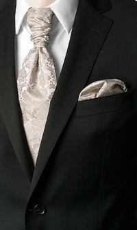 Wilvorst Krawattenplastron beige