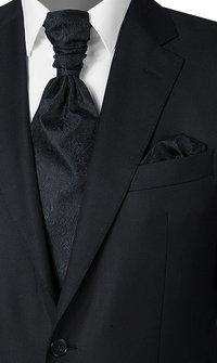 Wilvorst Krawattenplastron schwarz