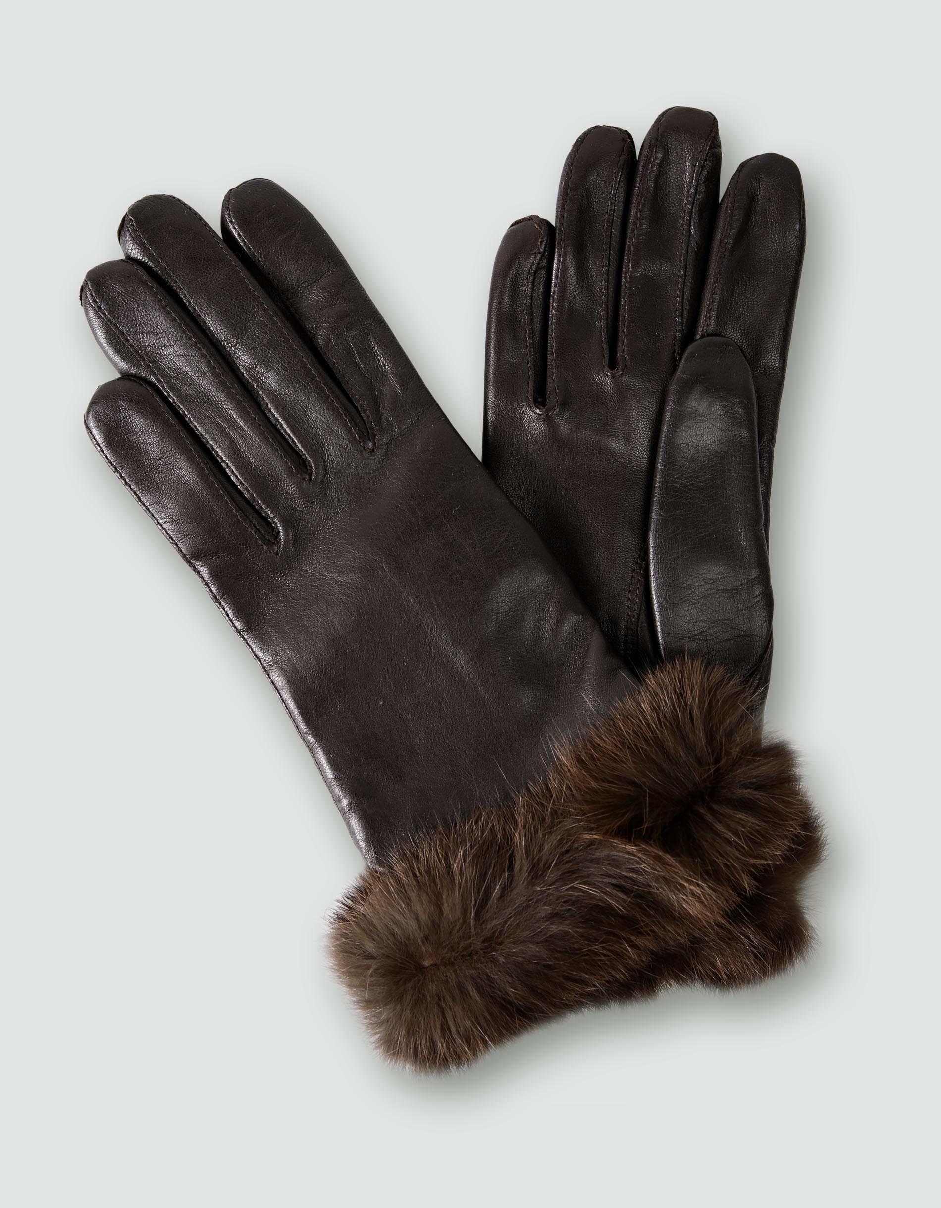 damen lederhandschuhe braun handschuhe. Black Bedroom Furniture Sets. Home Design Ideas