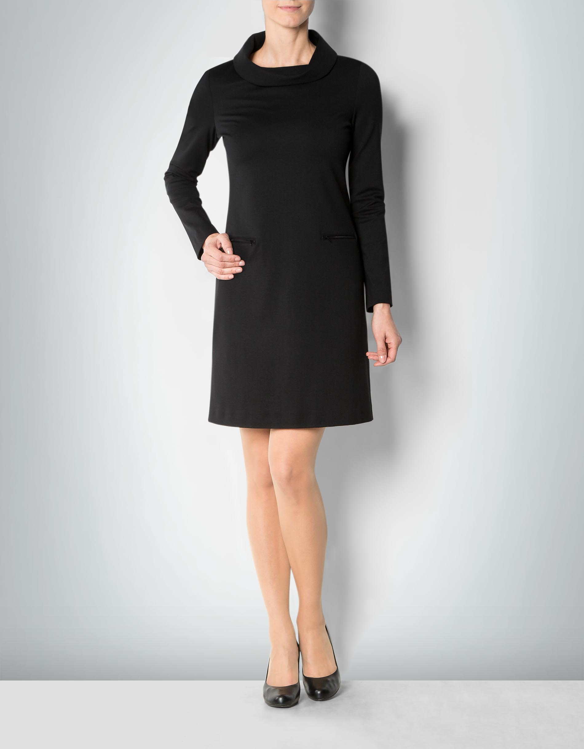 daniel hechter damen kleid schwarz mit rollkragen. Black Bedroom Furniture Sets. Home Design Ideas