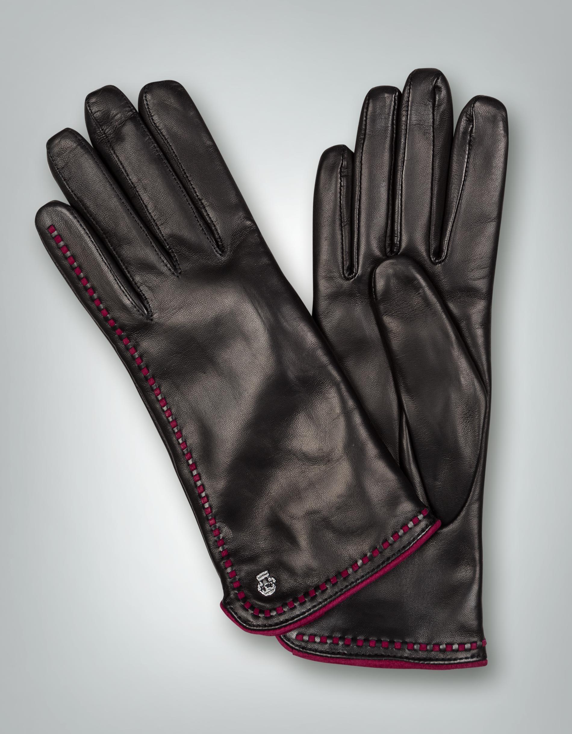 roeckl damen handschuhe leder mit ziernaht empfohlen von. Black Bedroom Furniture Sets. Home Design Ideas
