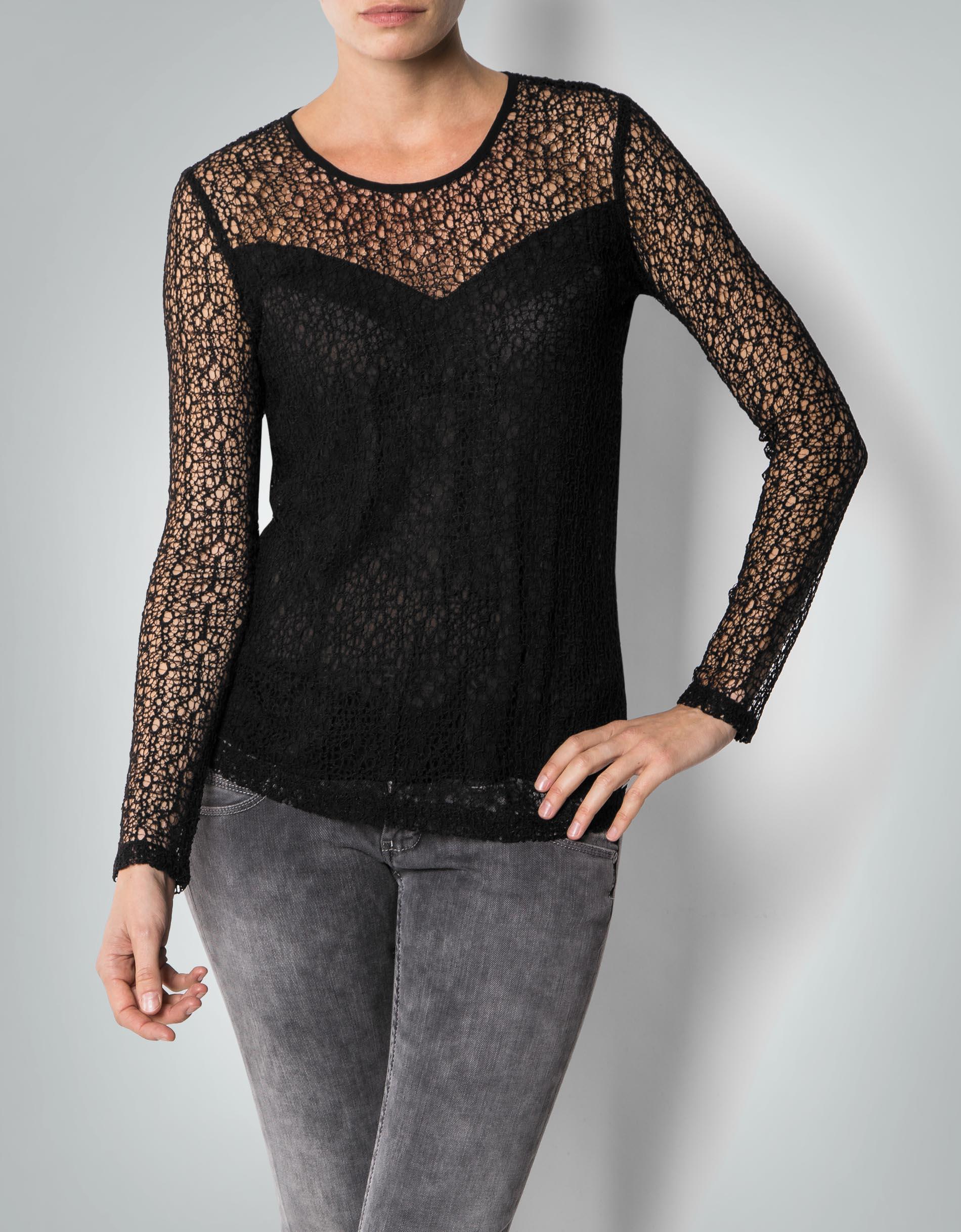 pepe jeans damen t shirt claire oberteil aus spitze mit. Black Bedroom Furniture Sets. Home Design Ideas
