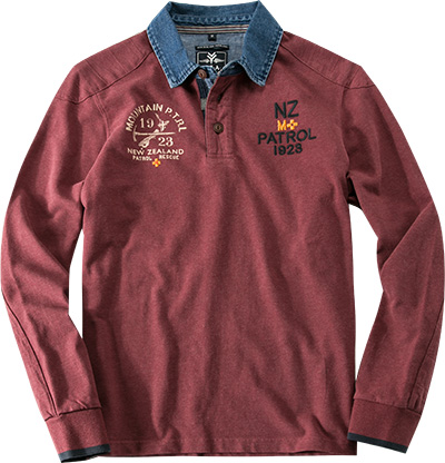 N.Z.A. Polo-Shirt 14HN204/deep bordeaux
