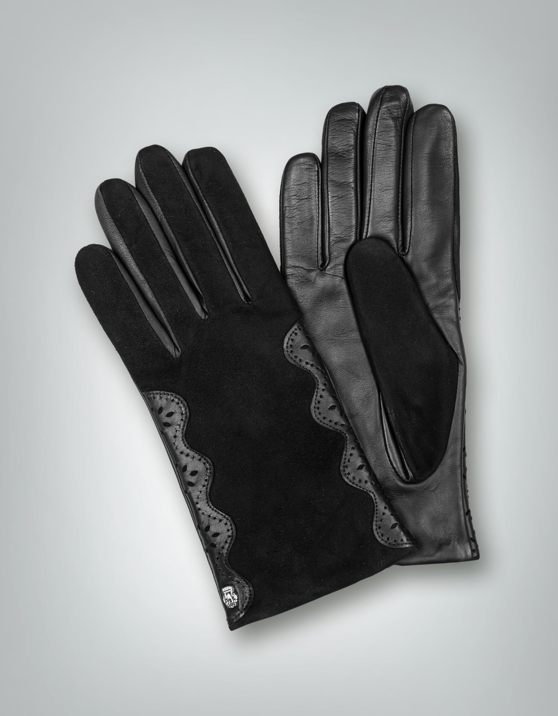roeckl damen handschuhe leder mit budapester details. Black Bedroom Furniture Sets. Home Design Ideas