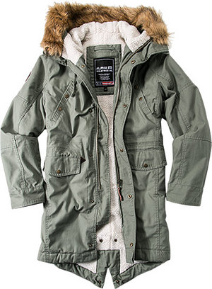 ALPHA INDUSTRIES Parka Hooded Fishtail