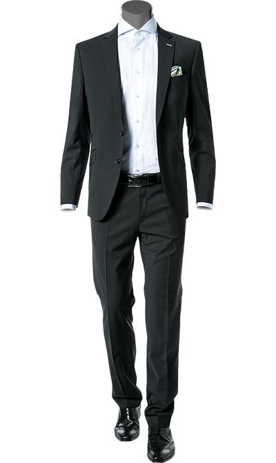 digel anzug slim fit in schwarz. Black Bedroom Furniture Sets. Home Design Ideas