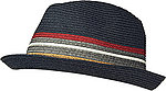 Barbour Hut Tain Stripe Trilby navy