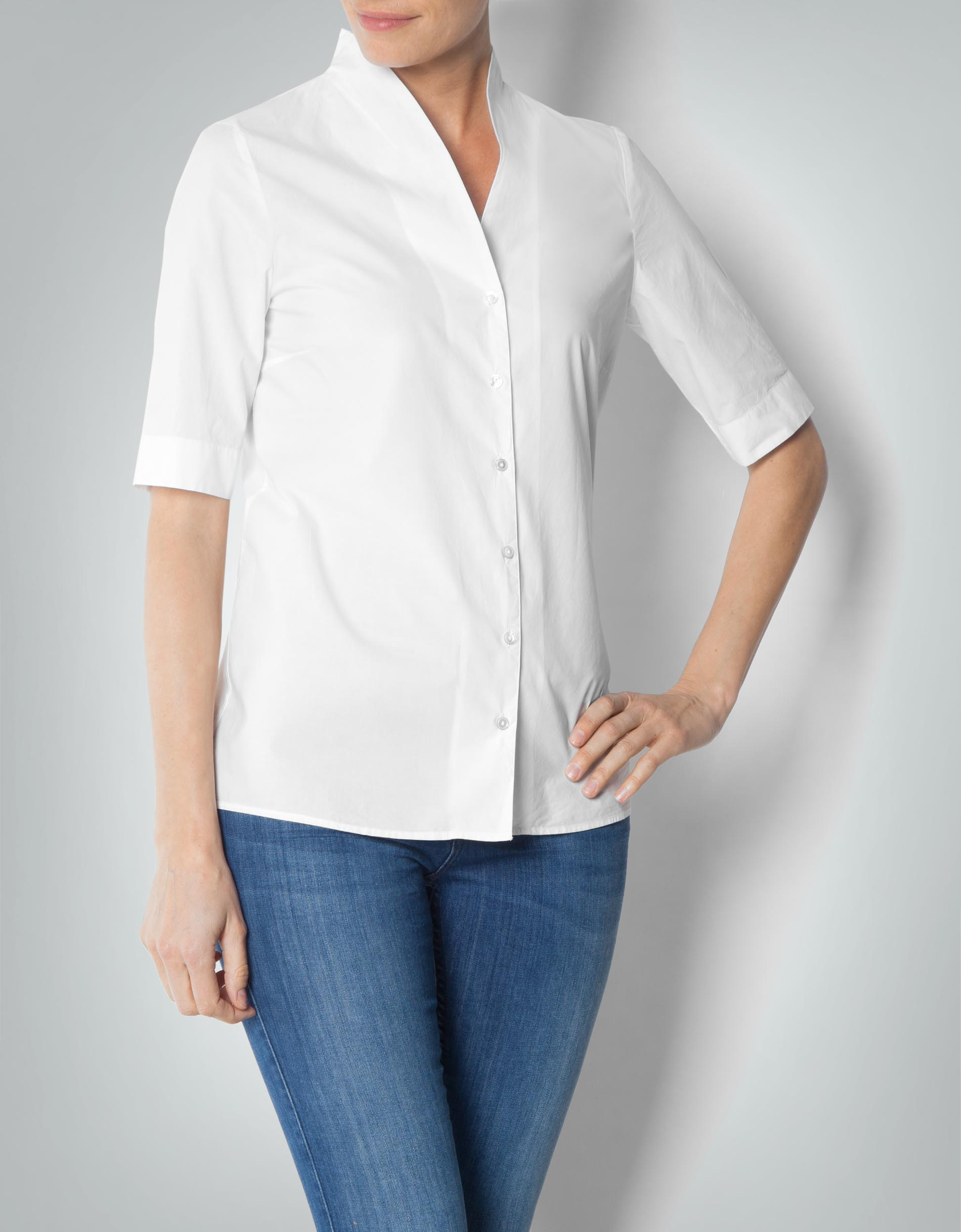 good out x outlet store many styles Marc O'Polo Damen Bluse Kurzarm- aus Baumwoll-Popeline ...