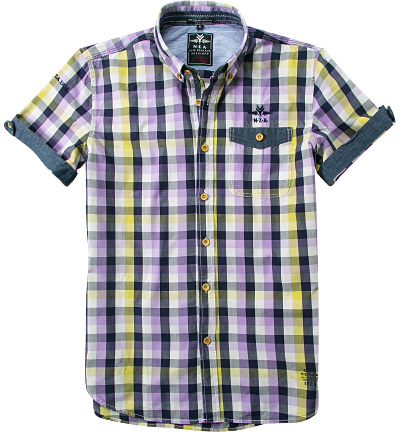 N.Z.A. Hemd 15CN531D/violet-pin yellow