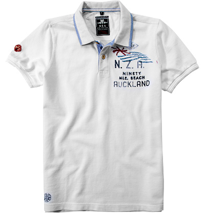 N.Z.A. Polo-Shirt 15CN102/white