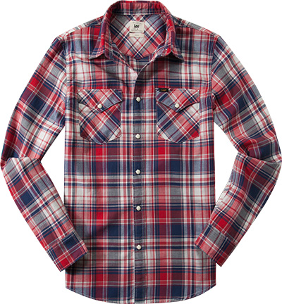 Lee Western Shirt primary red L644/ILLK