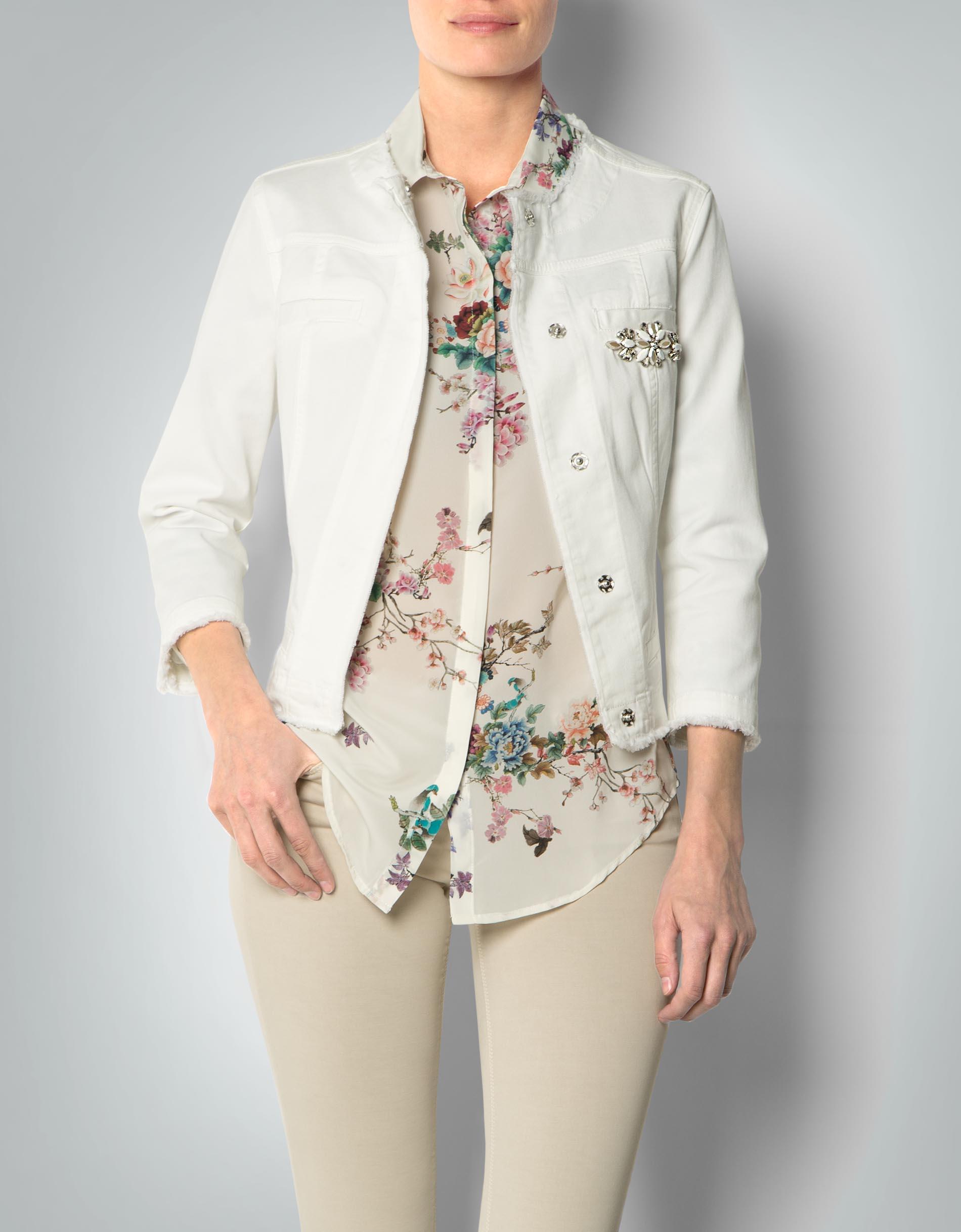 LIU JO Damen Jeansjacke mit gefranzten Abschlüssen empfohlen von Deinen  Schwestern 0c027ebc348
