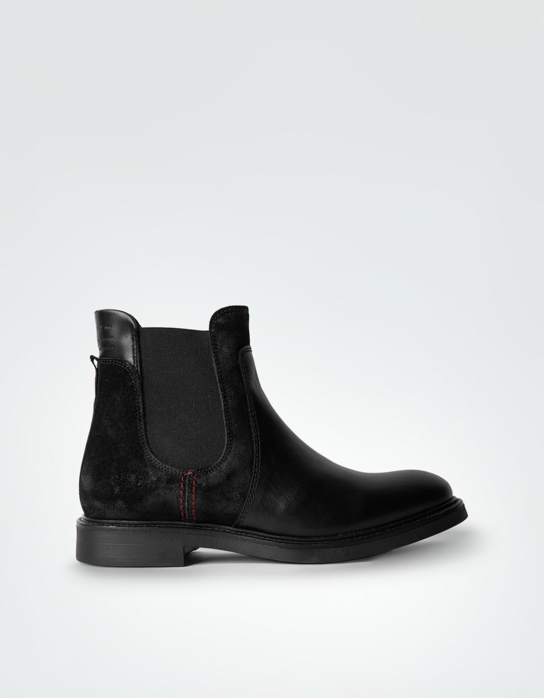 Gant Damen Schuhe Chelsea Boots aus Velours- und Glattleder schwarz FXSV9UChg
