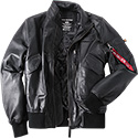ALPHA INDUSTRIES Lederjacke Engine 158151/03