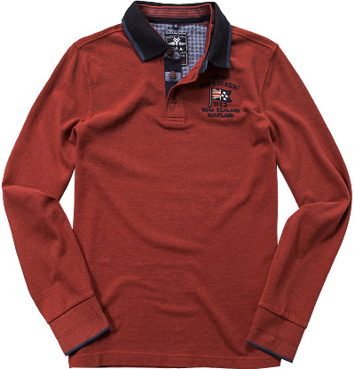 N.Z.A. Polo-Shirt 15GN201/burned orange