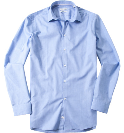 hemd fitted fil fil hellblau meliert von calvin klein. Black Bedroom Furniture Sets. Home Design Ideas