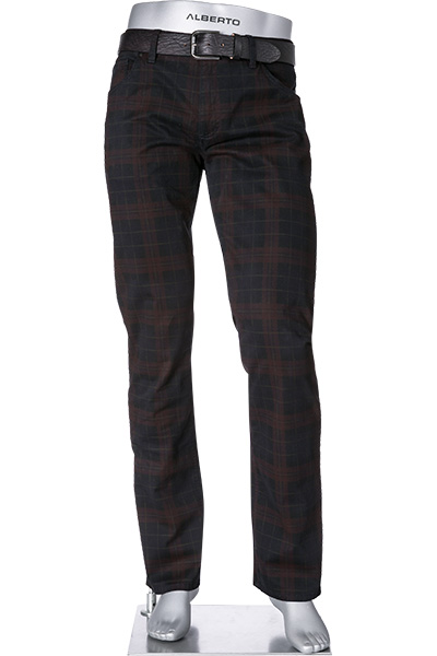 Alberto Modern Fit Cotton Check Stone 50071818/085