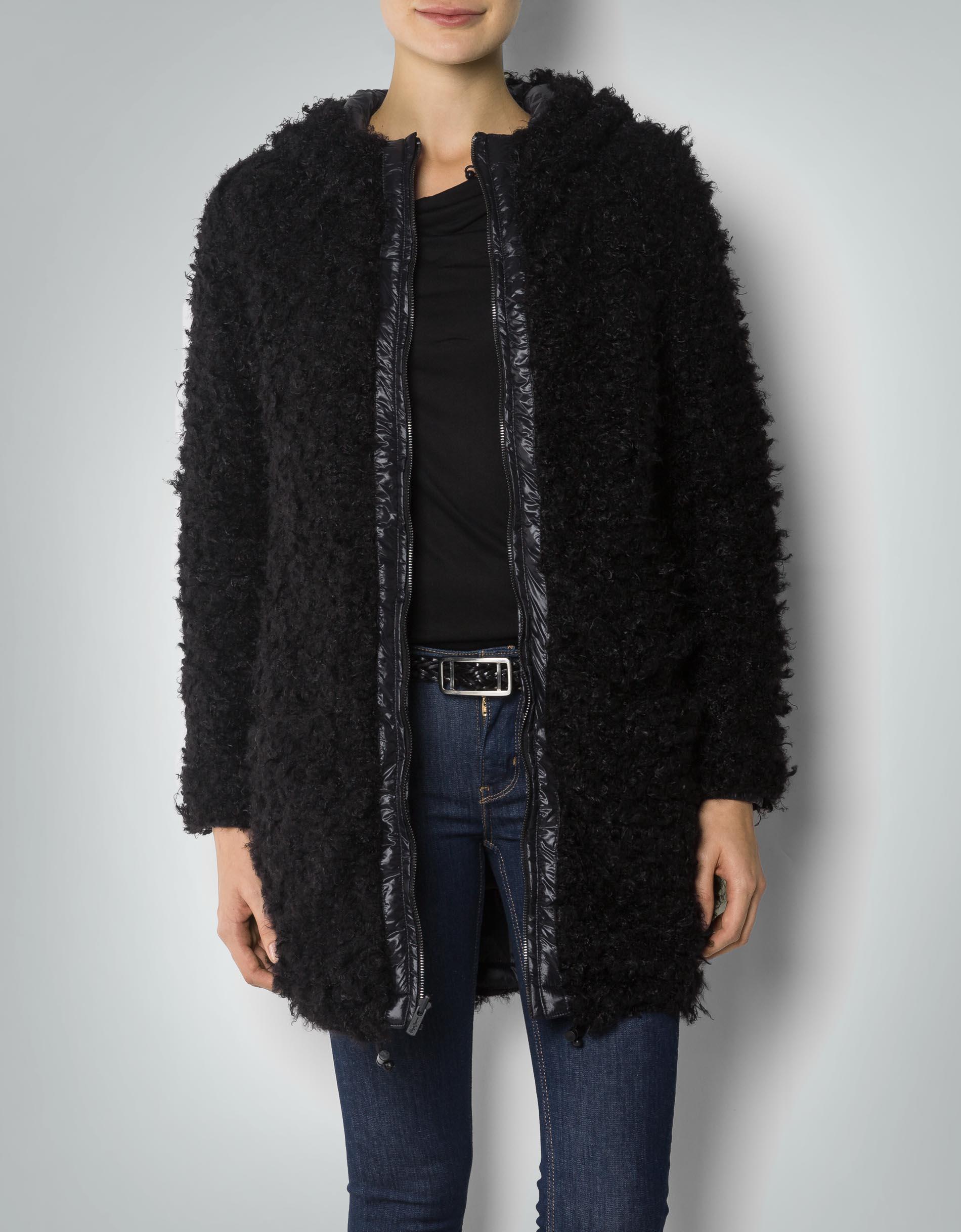 pepe jeans damen mantel anita wende mit fake fur. Black Bedroom Furniture Sets. Home Design Ideas