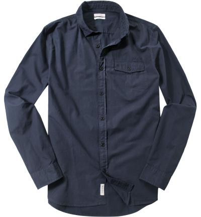 calvin klein jeans hemd in blau. Black Bedroom Furniture Sets. Home Design Ideas