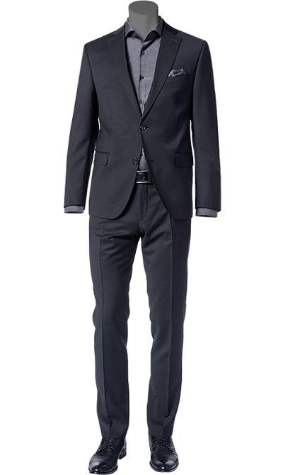 anzug sharpe fit schurwolle schwarz von carl gross bei. Black Bedroom Furniture Sets. Home Design Ideas
