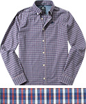 N.Z.A. Hemd 15GM519/blue-red check