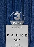 Falke Merino Wool Socken No.7 3er Pack 14449/6000