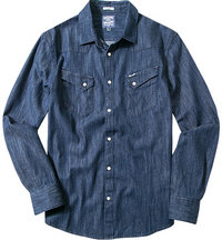 Wrangler Jeans-Hemd dark indigo