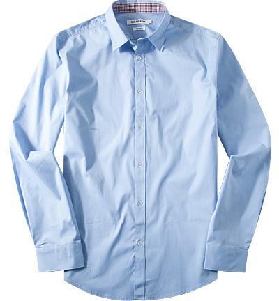 ben sherman hemd kent in blau. Black Bedroom Furniture Sets. Home Design Ideas