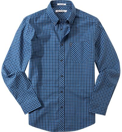 hemd b d regular fit popeline blau schwarz kariert von ben sherman bei. Black Bedroom Furniture Sets. Home Design Ideas