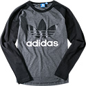 adidas ORIGINALS T-Shirt long grey AJ6956