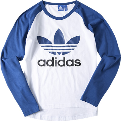 adidas ORIGINALS T-Shirt long white AJ6957
