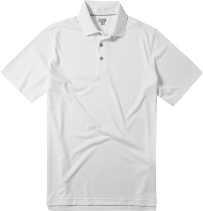 ASHWORTH EZ-SOF Solid Golf Shirt white B83716