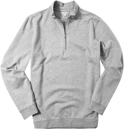 ASHWORTH Half-Zip Pullover mid grey heather AE4789