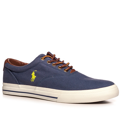 schuhe sneaker canvas leder navy von polo ralph lauren bei. Black Bedroom Furniture Sets. Home Design Ideas