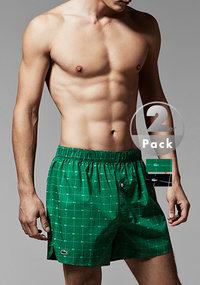 LACOSTE Authentics Woven Boxer 2er Pack