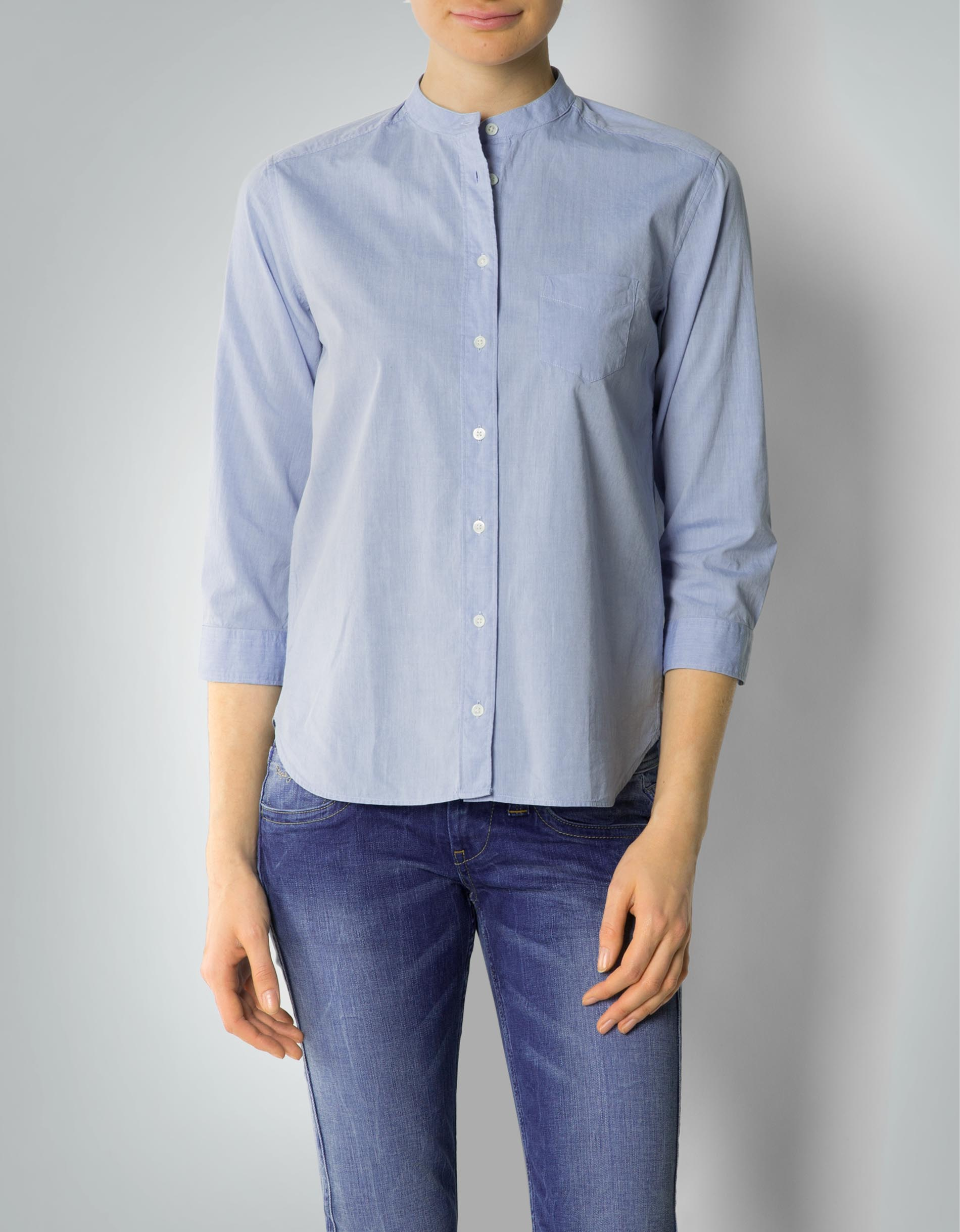 newest collection b430b 8e65d Gant Damen Bluse Hemd mit Stehkragen empfohlen von Deinen ...