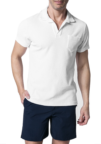 Orlebar Brown Terry Polo-Shirt white 250120